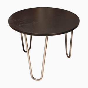 Bauhaus Chrome Coffee or Side Table in Oak by Robert Slezák, 1930s