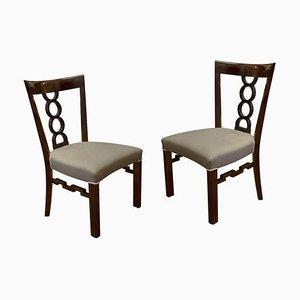 Antike Kubistische Stühle, Österreich-Ungarn, 1915, 2er Set