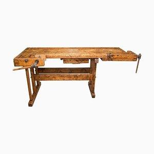 Antike Tischler Werkbank aus Eiche, 1920er