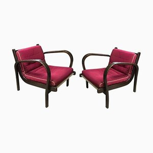 Armlehnstühle von Karel Kozelka & Antonin Kropacek für Interiér Praha, 1946, 2er Set