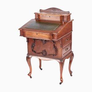 Victorian Freestanding Walnut Davenport Desk