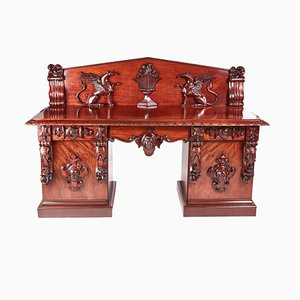 William IV Carved Mahogany Sideboard