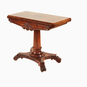 William IV Rosewood Card Table, 1830s