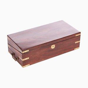 Large Georgian Mahogany Writing Box