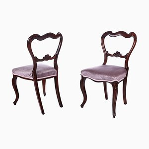 Victorian Rosewood Side Chairs, Set of 2