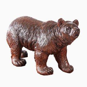 Large Antique Carved Black Forest Bear, 1860s