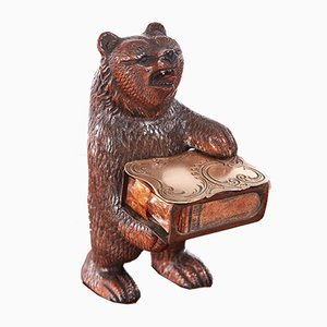 Antique Carved Black Forest Bear, 1860s