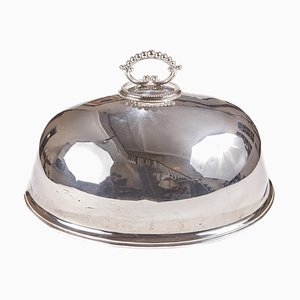 Antique Silver Plated Meat Dome, 1860s
