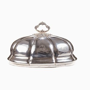 Antique Silver-Plated Meat Dome, 1860s