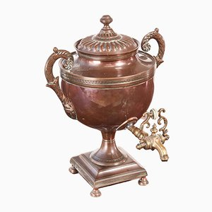 Small Regency Copper Samovar