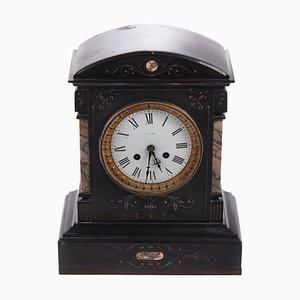 Antique Victorian Black Slate Mantle Clock