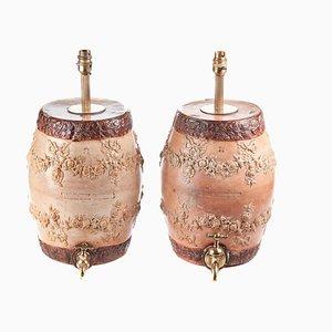 Stoneware Barrels, Set of 2