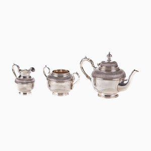 Small Antique Silver-Plate Quality Tea Set