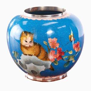 Antique Miniature Japanese Cloisonne Vase