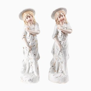 Continental Antique China Figures, Set of 2