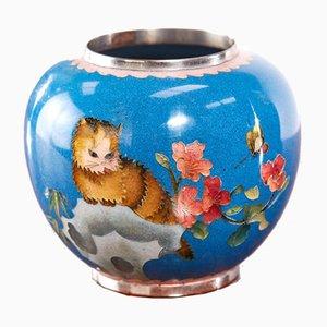 Antike Cloisonne Miniaturvase aus Japan
