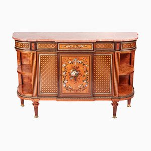 Antique Satinwood Inlaid Side Cabinet by Howard & Sons