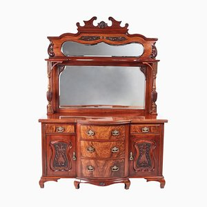 Antique Victorian Carved Walnut Sideboard, 1880s