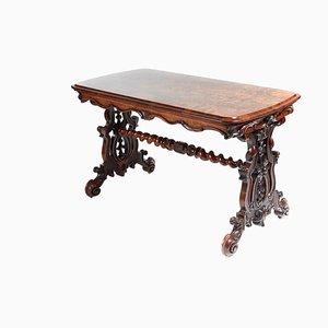 Victorian Burr Walnut Centre Table, 1850s