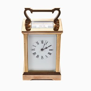 Horloge de Transport Antique en Laiton