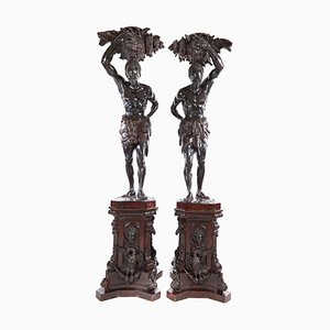 Antique Life Size Blackamoor Figures, Set of 2