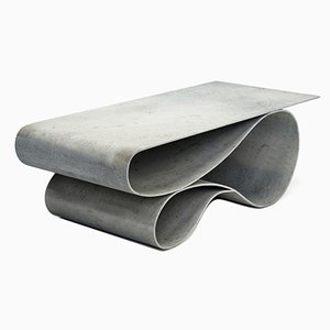Whorl Coffee Table in Concrete Canvas by Neal Aronowitz