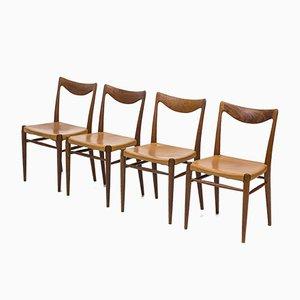 Bambi Esszimmerstühle von Rastad & Relling für Gustav Bahus, 1950er, 4er Set