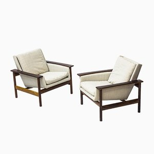 Rosewood 7001 Easy Chairs by Sven Ivar Dysthe for Dokka Møbler, 1960s, Set of 2