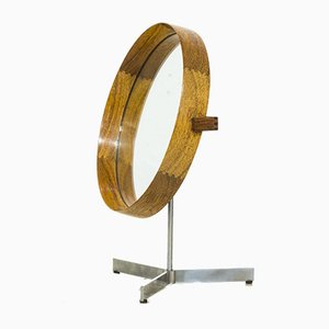 Swedish Rosewood Table Mirror by Uno & Östen Kristiansson for Luxus, 1950s