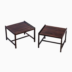 Rosewood Side Tables by Ingemar Relling for Brödrene Blindheim, 1960s, Set of 2