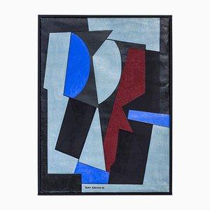 Peinture à l'Huile par Tore Nyberg, 1956