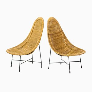 Kraal Chairs by Kertsin Hörlin Holmqvist for Nordiska Kompaniet, 1950s, Set of 2