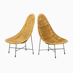 Kraal Stühle von Kerstin Hörlin Holmqvist für Nordiska Kompaniet, 1950er, 2er Set