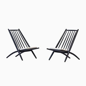 Kongo Easy Chairs by Ilmari Tapiovaara for Hagafors, 1950s, Set of 2