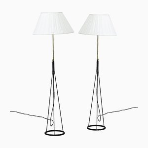 Floor Lamps by Eje Ahlgren for Luco, 1950s, Set of 2
