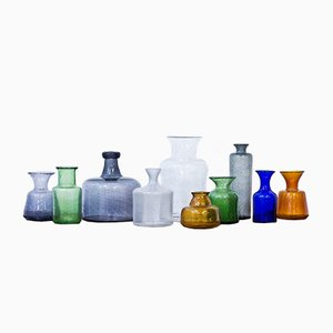 Vases by Erik Höglund for Boda, 1950s, Set of 10