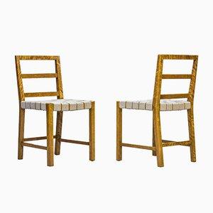 Esszimmerstühle von Uno Åhrén für Gemla, 1930er, 6er Set