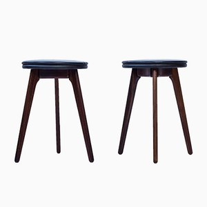 Rosewood Stools by Erik Buch for Odense Maskinsnedkeri, 1960s, Set of 2