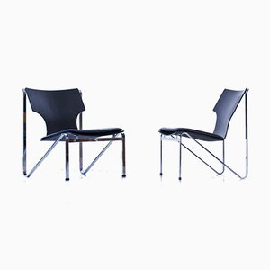 Easy Chairs by Sigurd Persson for Åry Stålmöbler, 1960s, Set of 2