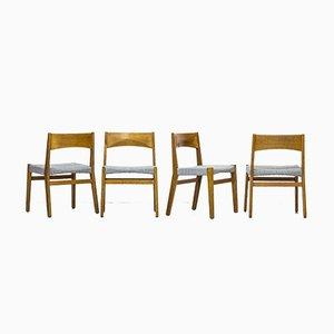 Esszimmerstühle von John Vedel Rieper für Erhard Rasmussen, 1957, 4er Set