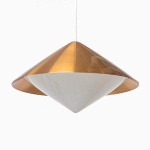 Copper Ceiling Lamp by Svea Winkler for Orno, 1960s