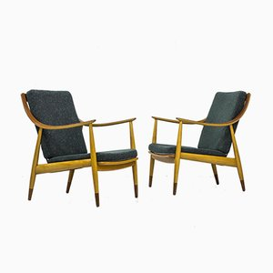 Model FD 145 Lounge Chairs by Peter Hvidt & Orla Mølgaard-Nielsen for France & Daverkosen, 1950s, Set of 2