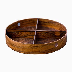 Rosewood Tray by Torsten Johansson for Formträ AB, 1950s