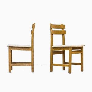 Eichenholz Modell Singö Chairs von Carl Gustaf Boulogner für Wigells Stolfabrik, 6er Set