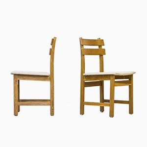 Oak Model Singö Chairs by Carl Gustaf Boulogner for Wigells Stolfabrik, Set of 6