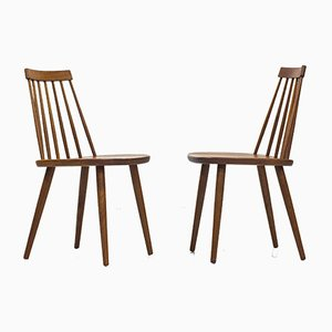 Pinnockio Chairs by Yngve Ekström for Stolab, 1950s, Set of 10