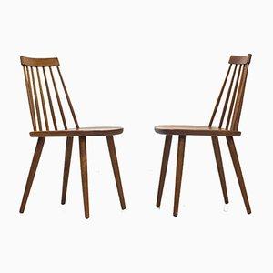 Pinnockio Stühle von Yngve Ekström für Stolab, 1950er, 10er Set