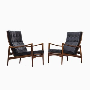 Örenäs Lounge Chairs by Ib Kofod-Larsen for OPE, 1950s, Set of 2
