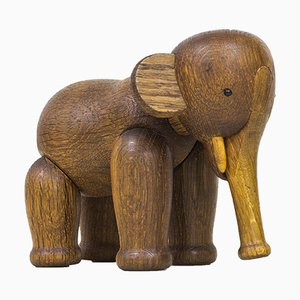 Wooden Elephant by Kay Bojesen, 1960s