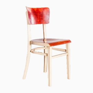 Bentwood Painted Dining Chair from TON, Czech, 1950s